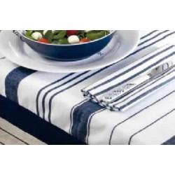 Mantel impermeable 115x 100 rayas azul