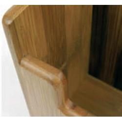 Soporte de bambú prismáticos