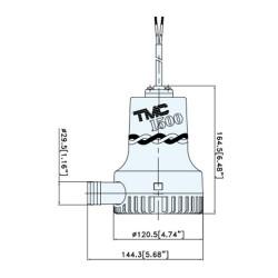 TMC 24v submersible bilge pump