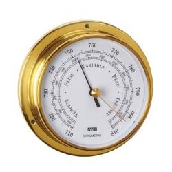 95mm polished brass barometer