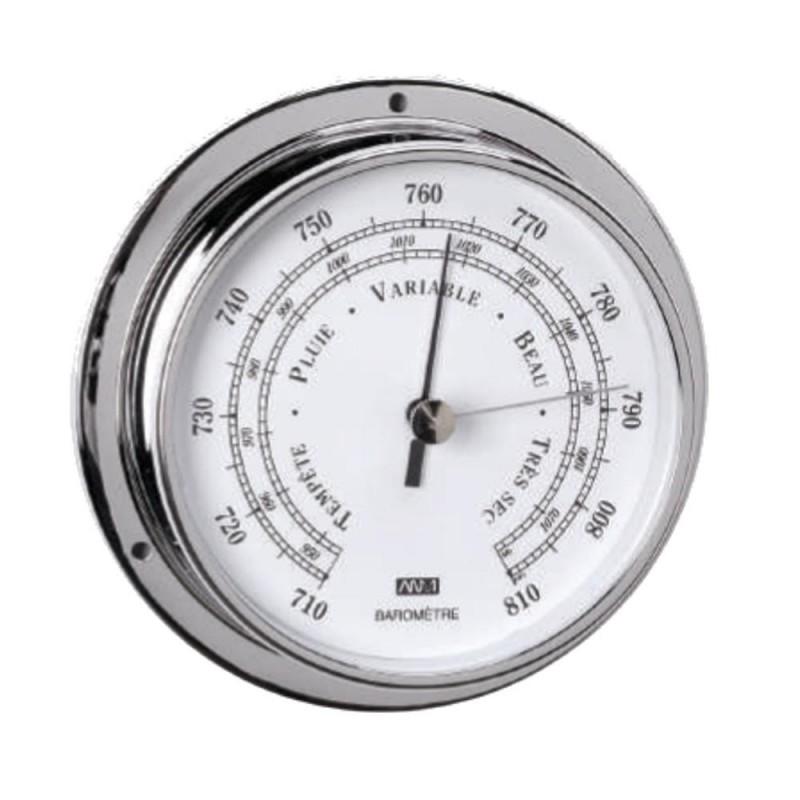 Barómetro latón cromado 95mm