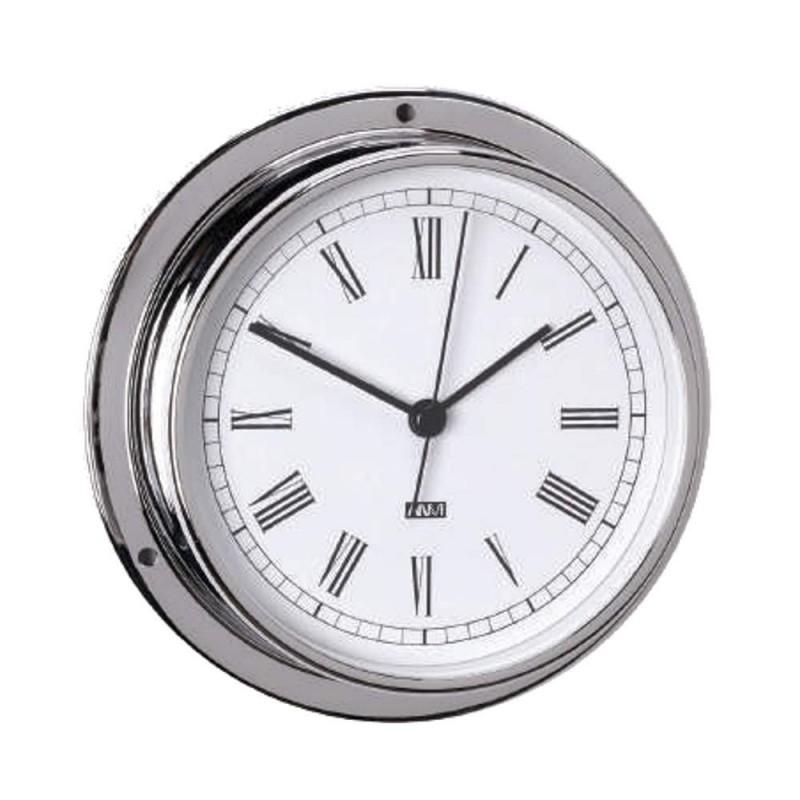 Reloj latón cromado 95mm