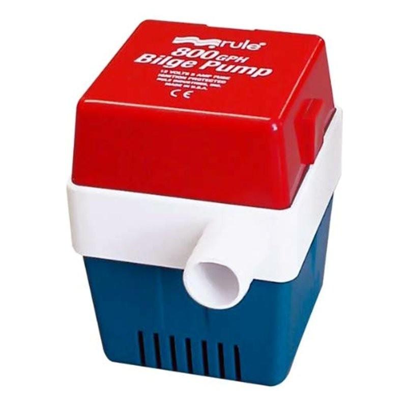 Square submersible bilge pump 12v 800 Rule